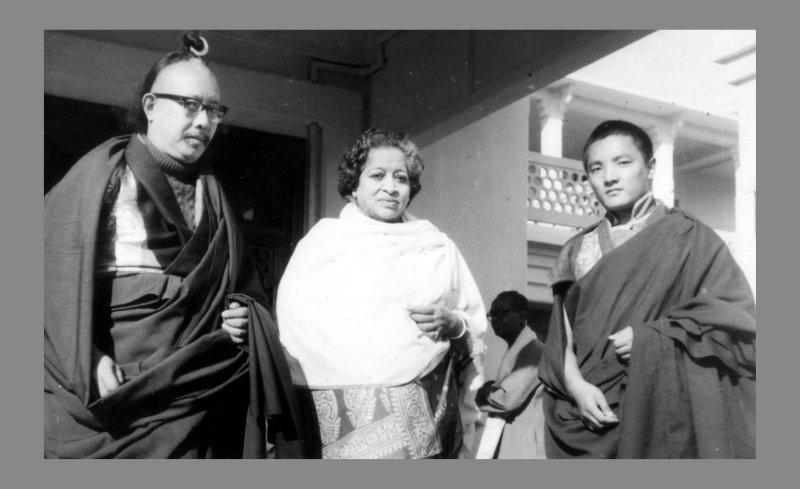Historisches Bild mit Chhimed Rigdzin Rinpoche