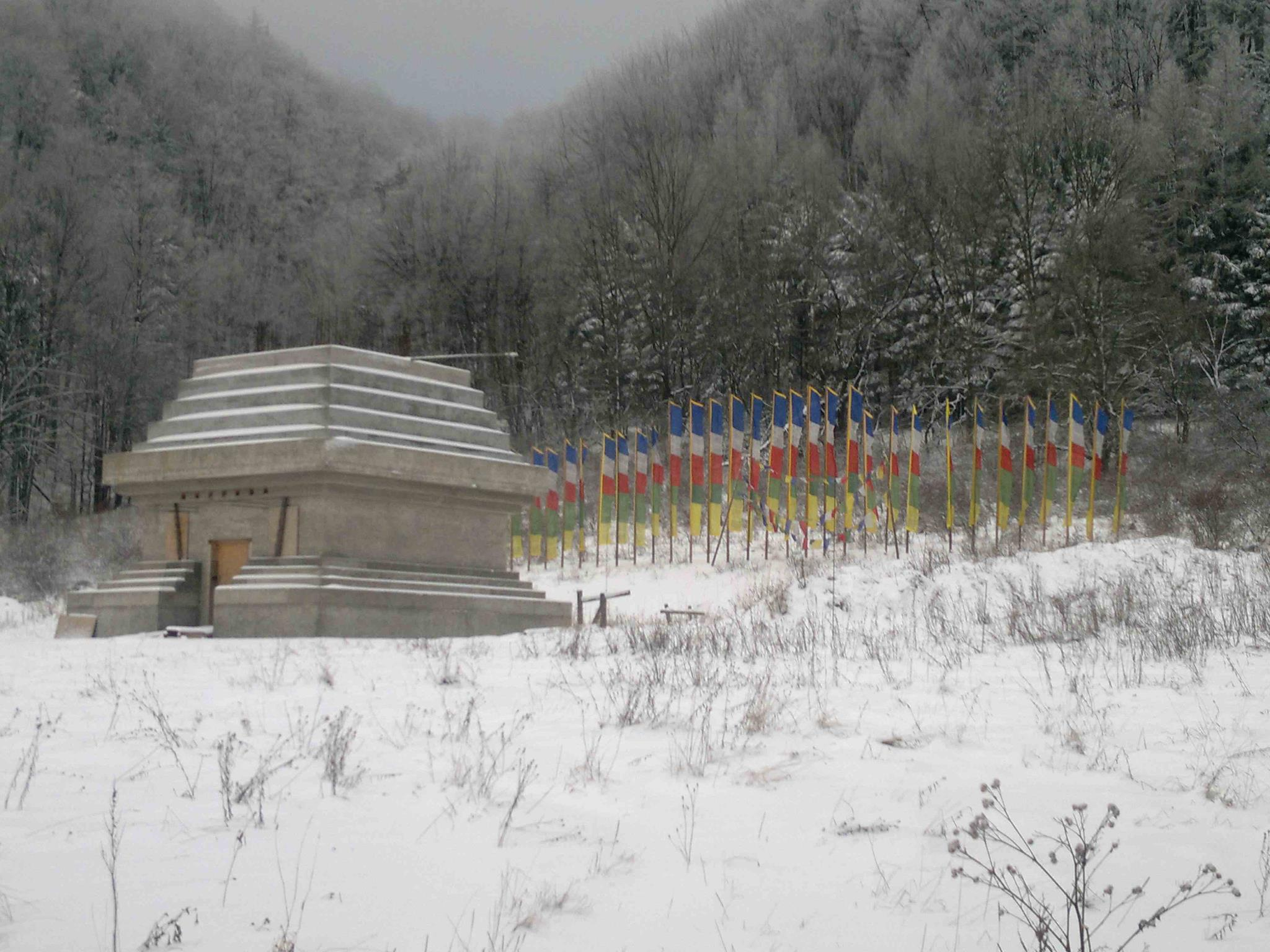 Stupa in Drophan Ling 1.1.2012